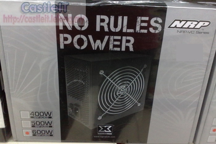 Xigmatek No Rules Power 600W Power Supply (NRP-VC603)