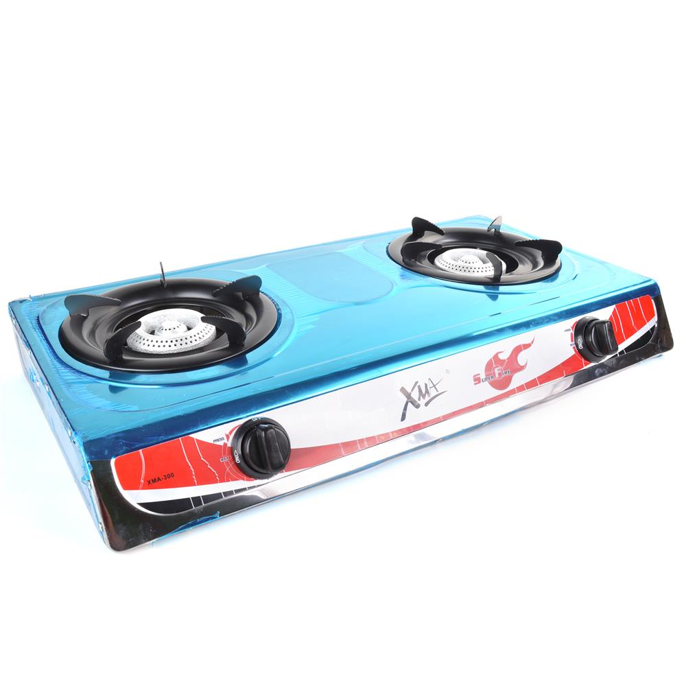 XMA-300 STAINLESS STEEL DOUBLE BURNERS GAS STOVE