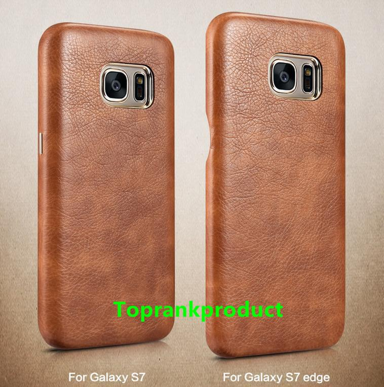 XOOMZ Samsung Galaxy S7 / Edge PU Leather Back Case Cover Casing