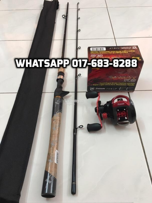 Xpuyu Pioneer Casting Fishing Combo Set ( Rod + Reel ) NEW FULL SET
