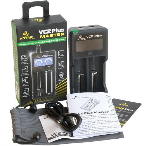 XTAR VC2 Plus Master USB LCD 18650 Battery Charger
