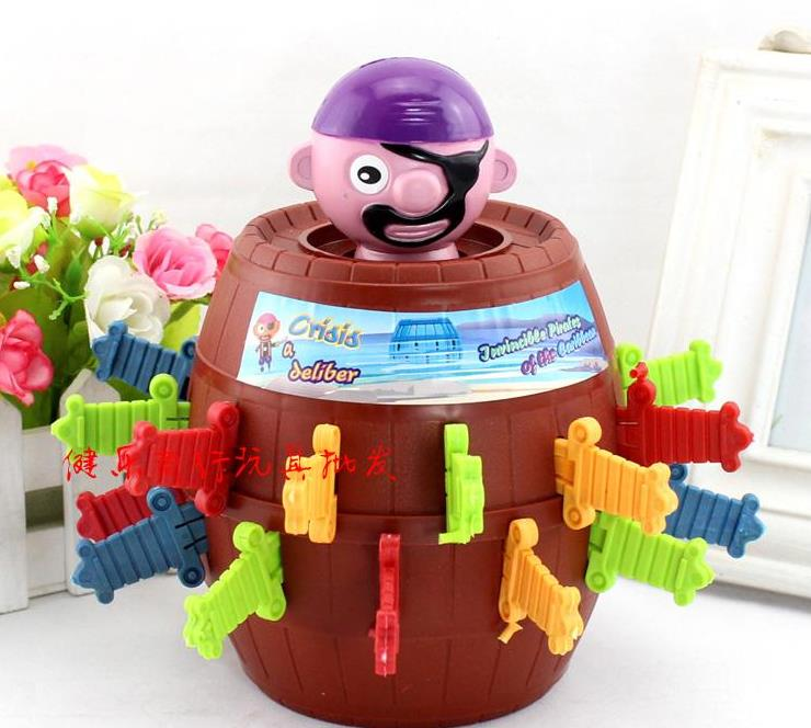[XXL]Running Man Pop Up Pirate Lord Barrel Roulette Toy Game