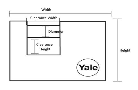 Yale Y124-60-110-1 60MM SATIN  CHROME BORON SHACKLE PADLOCK