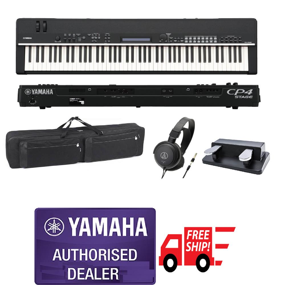 Yamaha  CP4 CP 4 CP-4 Stage Piano Free Dual Pedal & Bag