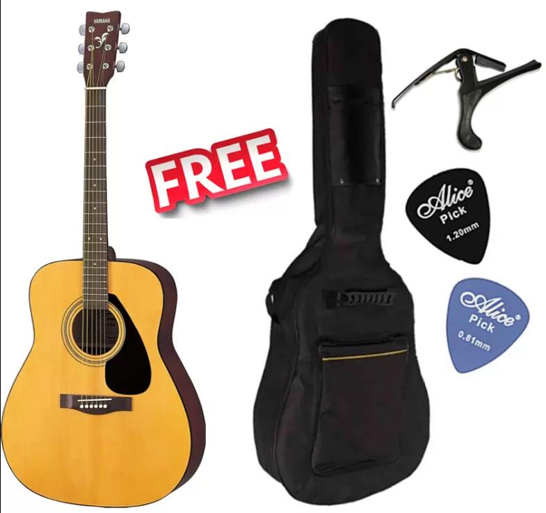 Yamaha F310 Beginner Acoustic Guitar Free Guitar bag, Capo & Picks