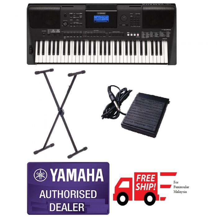 Yamaha PSR-E453 Beginner Portable Keyboard Package C (Free Shipping to
