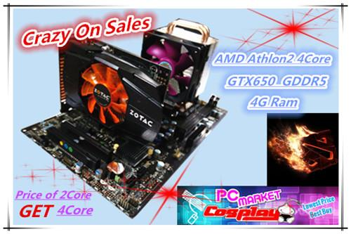 New Year Eve Price of 2core GET 4core 3.4GHz Gaming Desktop  4Gb Ram