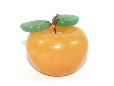 Yellow Jasper Apple - Crystal Ornament for Home D?cor