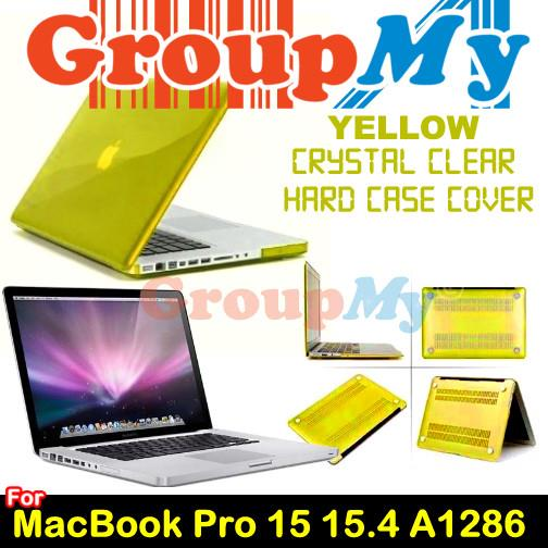 YELLOW MacBook Pro 15 15.4 A1286  Crystal Clear Hard Case Cover Apple