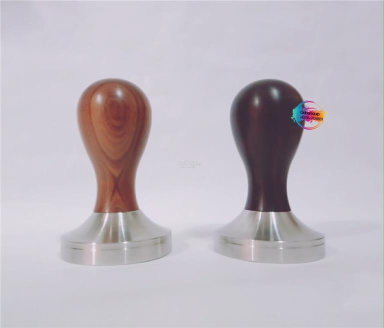 Yellow Rosewood / Ebony Coffee Espresso Flat Base Tamper 51mm 58mm ...