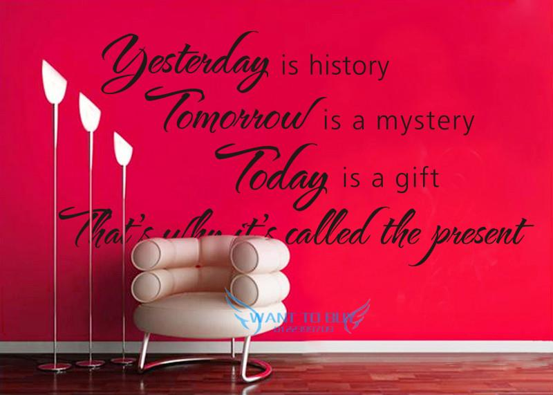 YESTERDAY Vinyl Wall Stickers Quotes end 6132018 915 PM