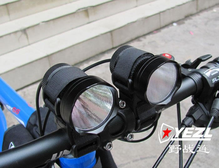 Yezl Doble Focus + Flood Beam CREE Q3 3-Mode Bike Light