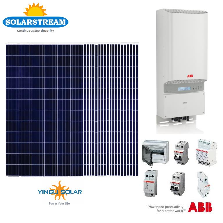 Yingli ABB Rooftop 6300W Solar Panel Photovoltaic Inverter PV System