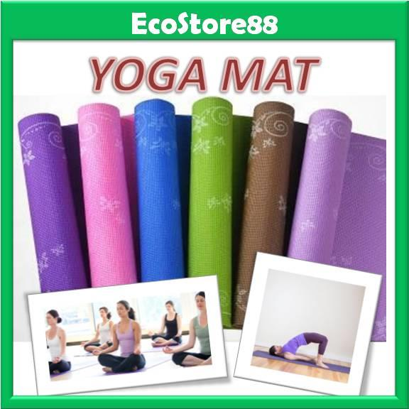 Yoga Mat with Flower Frame Design 6mm Non-Slip Exercise