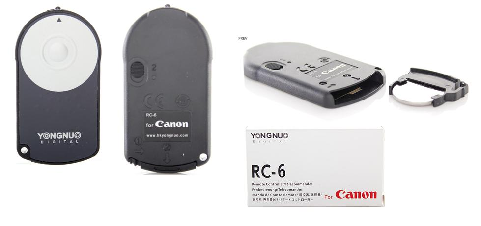 YONGNUO RC-6 Wireless Infrared Remote Controller for Canon DSLR Camera