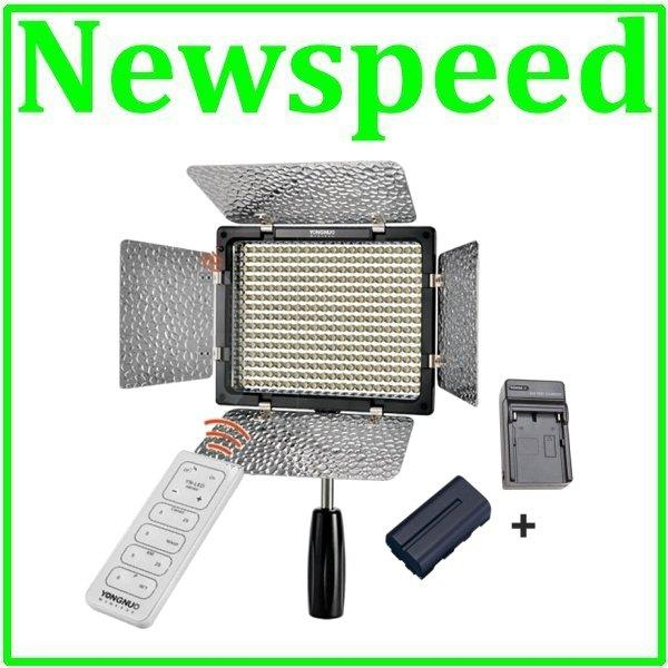 New Yongnuo YN300 II LED Video Light YN-300II + Battery + Charger