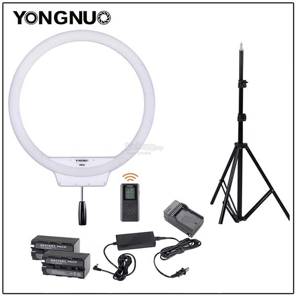 Yongnuo YN608 LED Ring Light 3200K - 5500K w RC, Adapter, Batt & Stand
