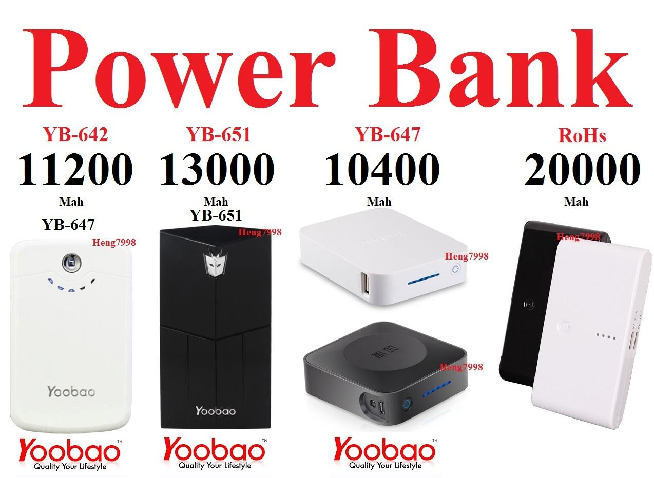 Yoobao 10400 11200 13000 15600 mah OEM 12000 20000 30000 Power Bank