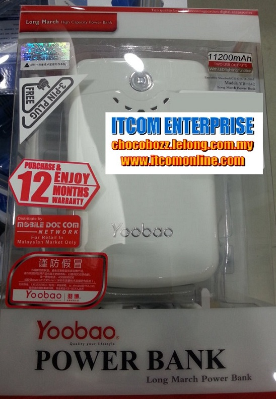 YOOBAO 11200MAH MOBILE POWER BANK (YB-642) ORI WARRANTY