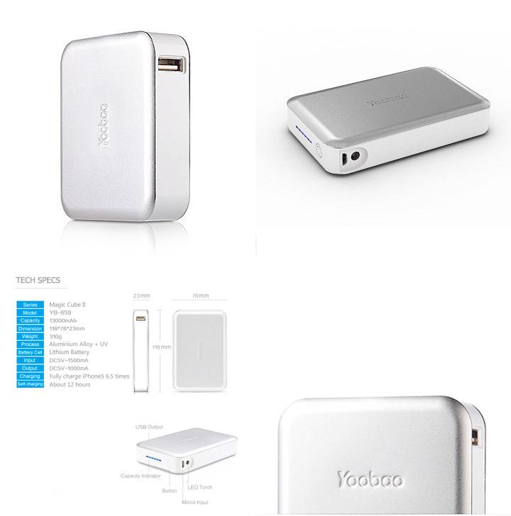 Yoobao Original YB-659 Magic Cube II 13000 mAh Power Bank - rmtlee