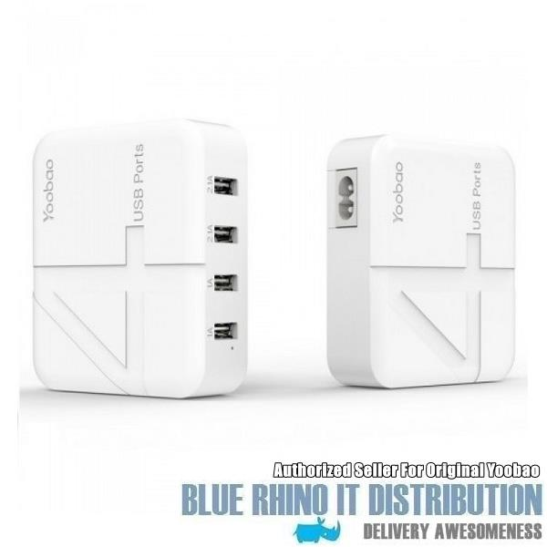 Yoobao YB-701 Rapid 4 USB Output Charger (Authorized Original Seller)