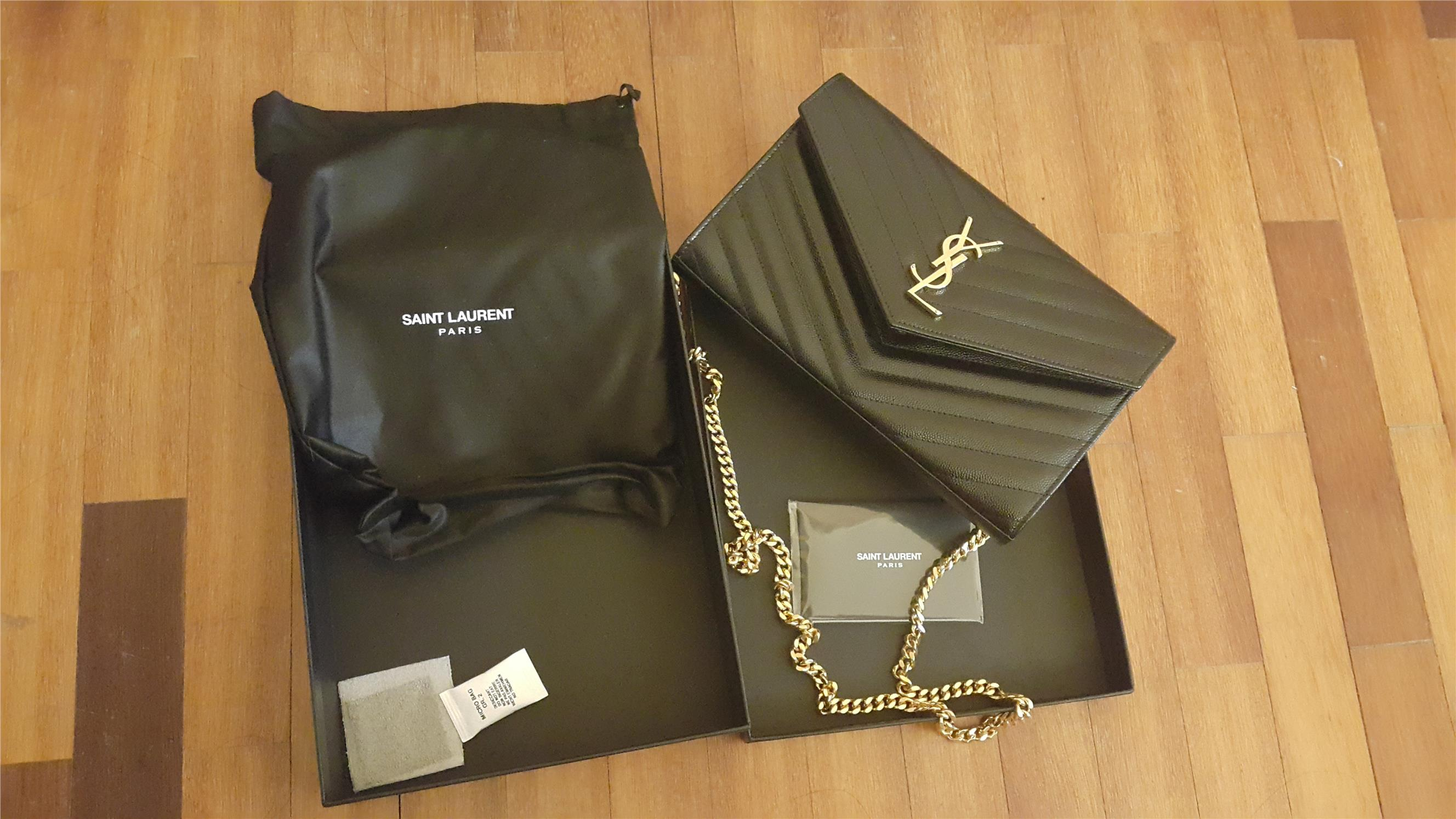 YSL Saint Laurent monogramme wallet chain (Selangor, end time 8/18 ...