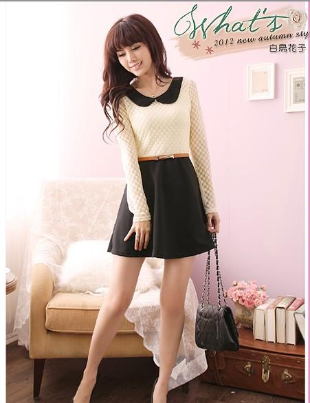 ysy5501 korean style blouse dress in 1 color black