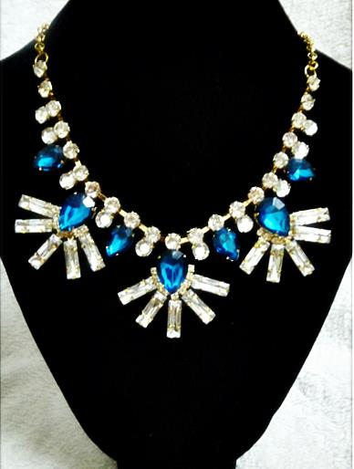 Zana Blue Statement Necklace (Free Shipping)