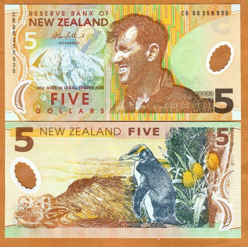 New Zealand, 5, 2006, Polymer, P185 , UNC