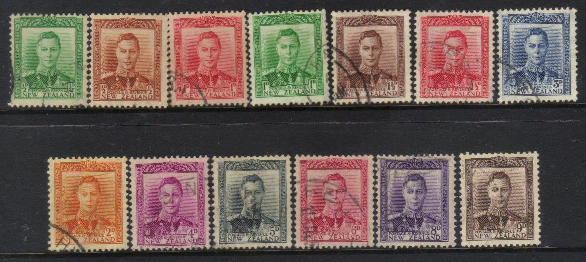 NEW ZEALAND KGVI 1938-1947 stamps USED CAT £8+ BJ206