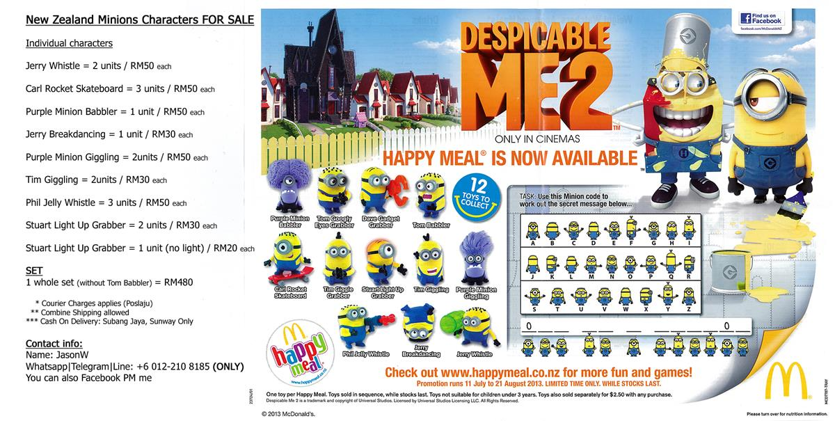 New Zealand Minion Characters for Sale - SET