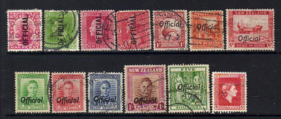 NEW ZEALAND OFFICIAL USED stamps SELECTION BJ267