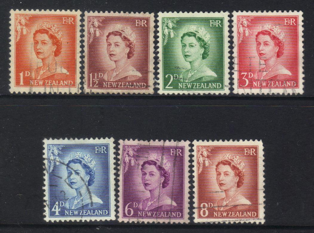 NEW ZEALAND QEII 1955 DEFINITIVES stamps CAT £6+ BJ123