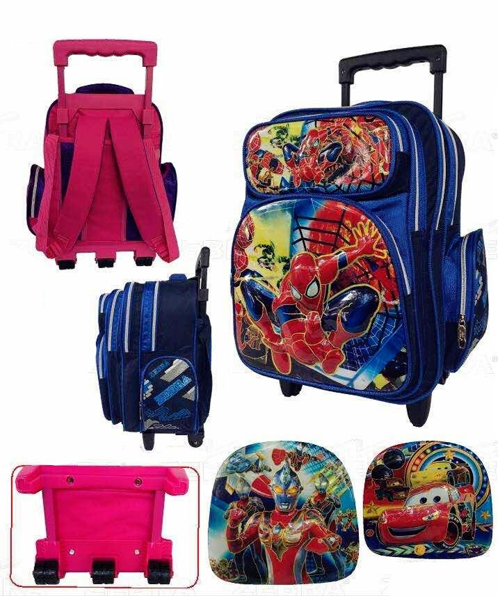 Zebra Boy Cartoons Trolley School Bag 3 Wheels TSZ-16633(16)