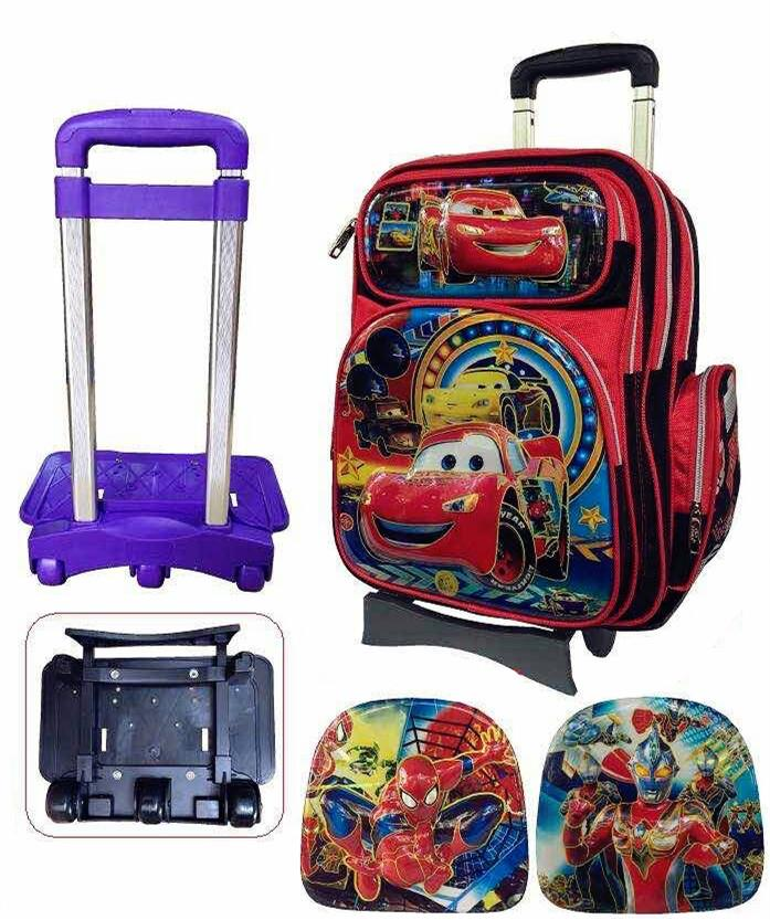 Zebra Boy Detachable Trolley School Bag 3Wheels TSZ-16631-1(16)
