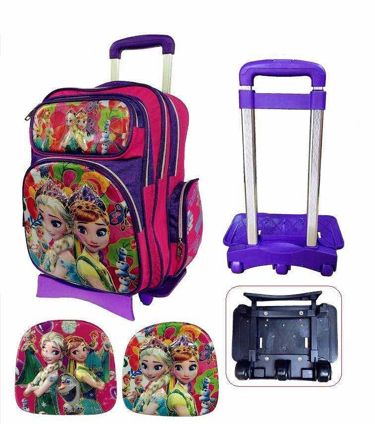 Zebra Frozen Detachable Trolley School Bag 3 Wheels TSZ-16630-1(16)