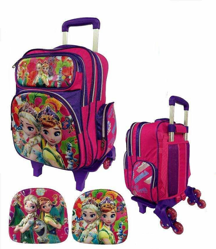 Zebra Frozen Detachable Trolley School Bag 6 Wheels TSZ-16630(16)