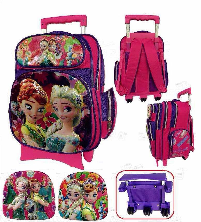 Zebra Frozen Trolley School Bag 3 Wheels TSZ-16634(16)