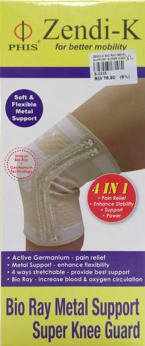 Zendi-K Bio Ray Metal Support Super Knee Guard (S,M,L,XL,XXL) (1 Pc)