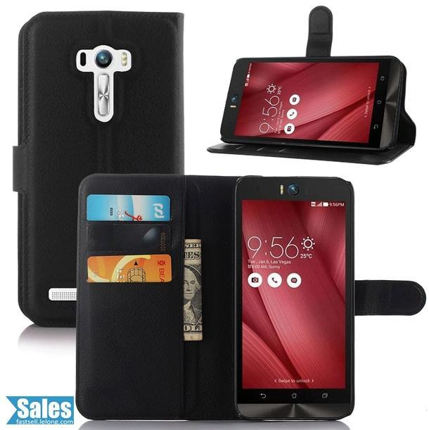 Zenfone Selfie ZD551KL Leather Texture TPU Casing Case Cover