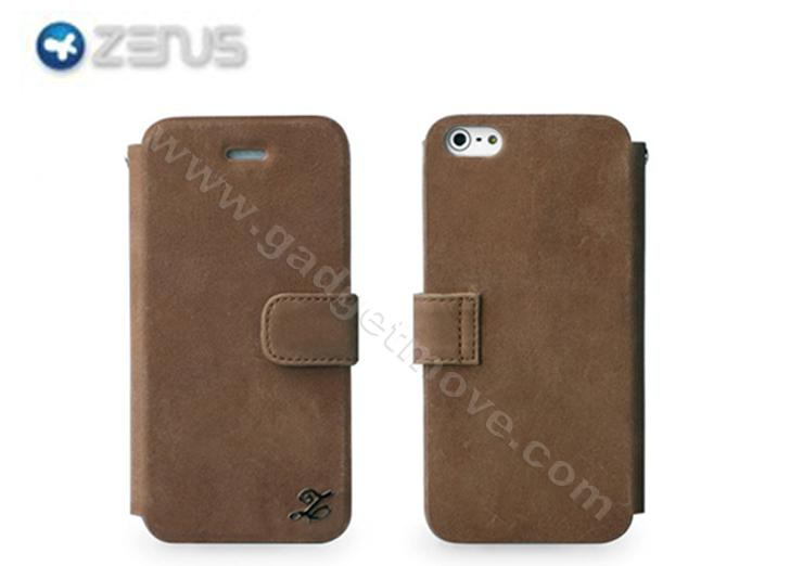 ZENUS IPHONE 5 Prestige Vintage Leather Diary Leather Case Cover