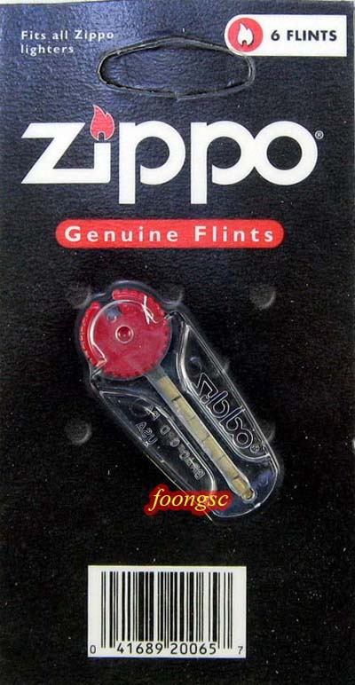 Zippo Genuine Lighter Flints 6pcs *Fits All Zippo Lighters*