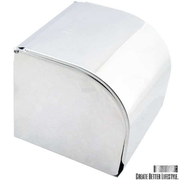 ZJ-K2 Chromed 304 Stainless Steel Paper Roll Holder Tissue Case