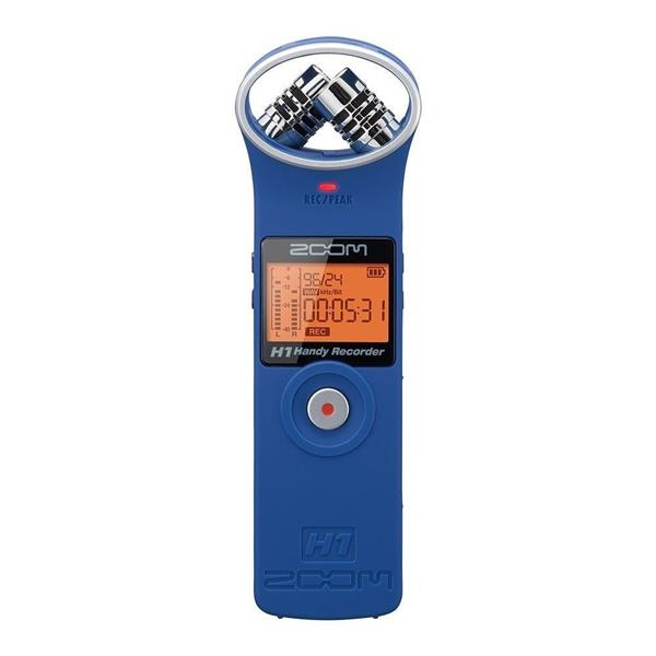 *Zoom H1 HD Portable Audio Sound Recorder - Limited Edition Matt Blue!