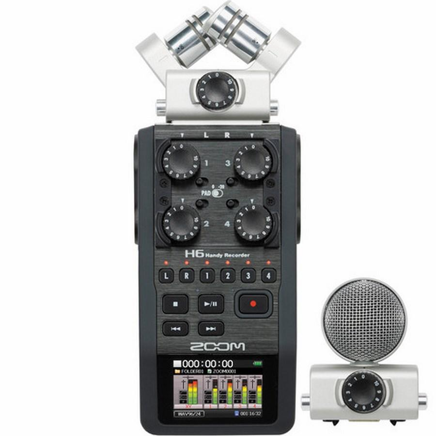 * Zoom H6 Recorder + 2 Sets Interchangeable Microphone - Ready Stock!