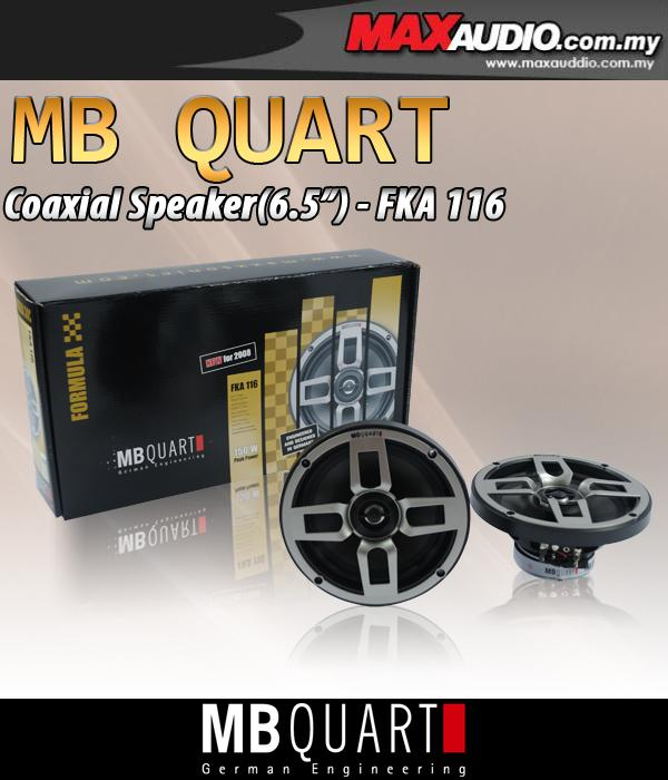 ORIGINAL MB QUART FORMULA FKA-116 6.5' 2-Way Coaxial Speaker
