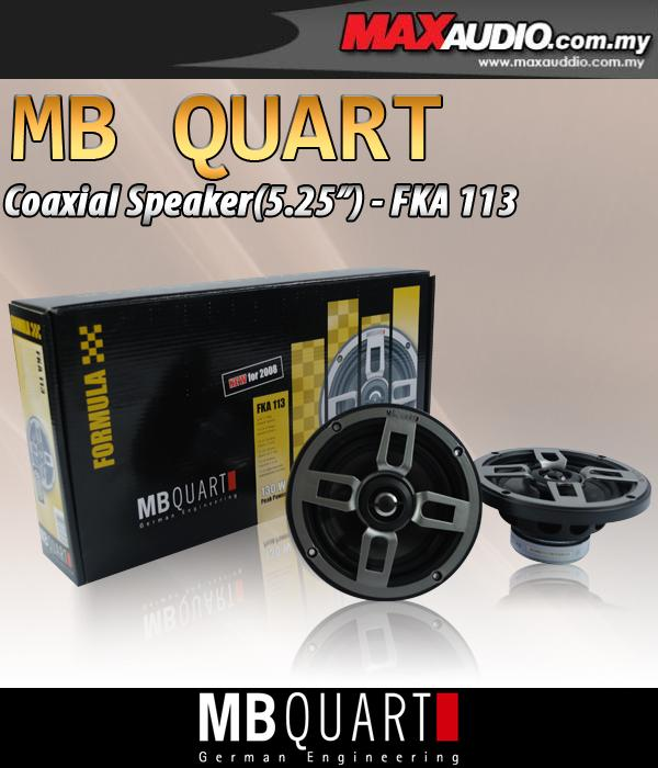 ORIGINAL MB QUART FORMULA FKA-113 5.25' 30W RMS 2-Way Coaxial Speaker