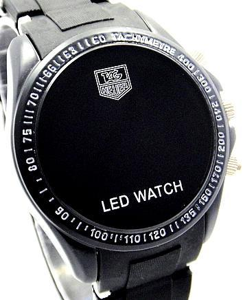 TOP TAG HEUER BLACK CASE Digital RED LED Watch Kuala Lumpur End