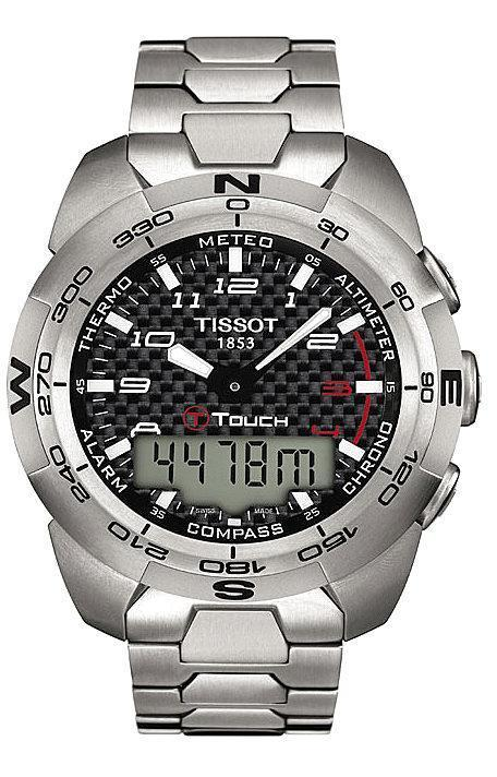 how to set the time on a tissot touch