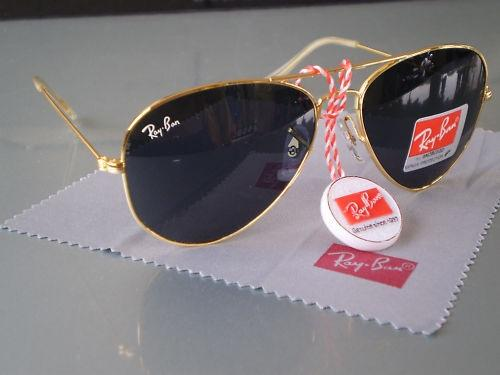 ray ban sunglasses black lens  ray ban aviators gold frame black lens
